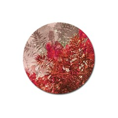 Decorative Flowers Collage Magnet 3  (round)
