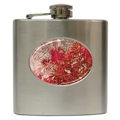 Decorative Flowers Collage Hip Flask