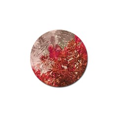 Decorative Flowers Collage Golf Ball Marker 4 Pack