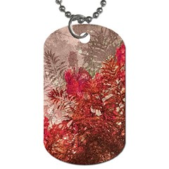 Decorative Flowers Collage Dog Tag (Two-sided)