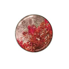 Decorative Flowers Collage Golf Ball Marker 4 Pack (for Hat Clip)