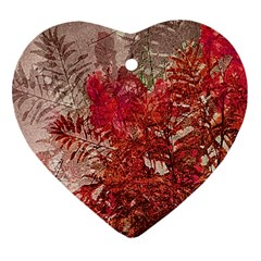 Decorative Flowers Collage Heart Ornament (Two Sides)