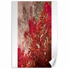 Decorative Flowers Collage Canvas 12  x 18  (Unframed)