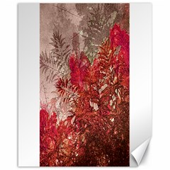 Decorative Flowers Collage Canvas 16  x 20  (Unframed)