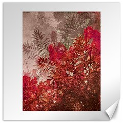 Decorative Flowers Collage Canvas 20  X 20  (unframed)