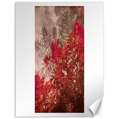 Decorative Flowers Collage Canvas 18  x 24  (Unframed)