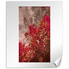 Decorative Flowers Collage Canvas 20  x 24  (Unframed)