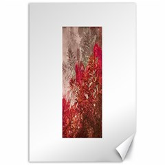 Decorative Flowers Collage Canvas 24  x 36  (Unframed)
