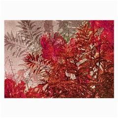 Decorative Flowers Collage Glasses Cloth (large)