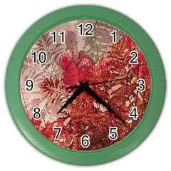 Decorative Flowers Collage Wall Clock (Color)