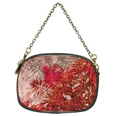 Decorative Flowers Collage Chain Purse (two Sided)
