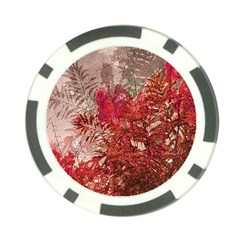 Decorative Flowers Collage Poker Chip (10 Pack)