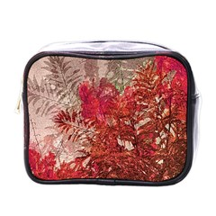 Decorative Flowers Collage Mini Travel Toiletry Bag (one Side)