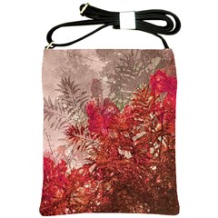 Decorative Flowers Collage Shoulder Sling Bag