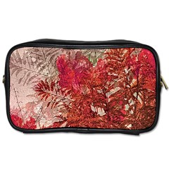 Decorative Flowers Collage Travel Toiletry Bag (two Sides)