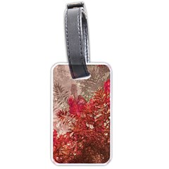Decorative Flowers Collage Luggage Tag (one Side)