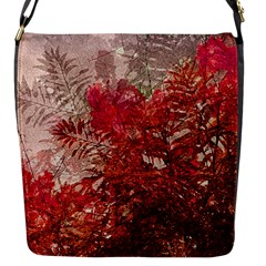 Decorative Flowers Collage Flap Closure Messenger Bag (Small)