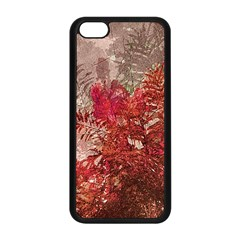 Decorative Flowers Collage Apple iPhone 5C Seamless Case (Black)