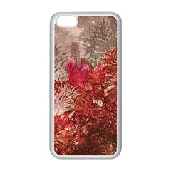 Decorative Flowers Collage Apple iPhone 5C Seamless Case (White)