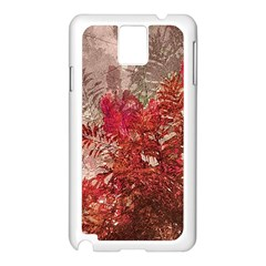 Decorative Flowers Collage Samsung Galaxy Note 3 N9005 Case (White)