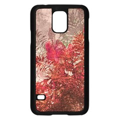 Decorative Flowers Collage Samsung Galaxy S5 Case (black)