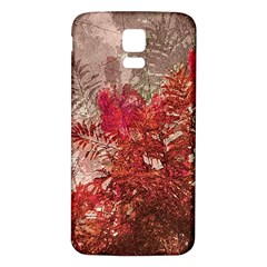 Decorative Flowers Collage Samsung Galaxy S5 Back Case (white)