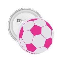 Soccer Ball Pink 2.25  Button