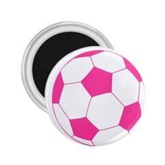 Soccer Ball Pink 2.25  Button Magnet