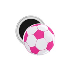 Soccer Ball Pink 1.75  Button Magnet