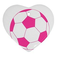 Soccer Ball Pink Heart Ornament