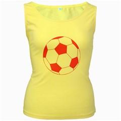 Soccer Ball Pink Women s Tank Top (Yellow)
