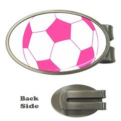 Soccer Ball Pink Money Clip (Oval)
