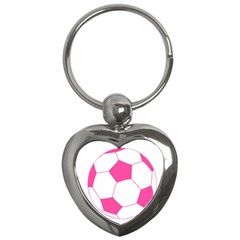 Soccer Ball Pink Key Chain (heart)