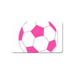 Soccer Ball Pink Magnet (name Card)