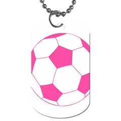Soccer Ball Pink Dog Tag (One Sided)