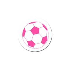 Soccer Ball Pink Golf Ball Marker 4 Pack