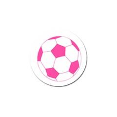 Soccer Ball Pink Golf Ball Marker 10 Pack
