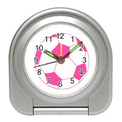 Soccer Ball Pink Desk Alarm Clock