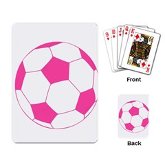 Soccer Ball Pink Playing Cards Single Design