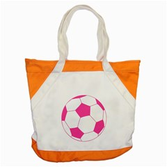 Soccer Ball Pink Accent Tote Bag