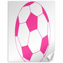 Soccer Ball Pink Canvas 18  X 24  (unframed)