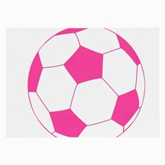 Soccer Ball Pink Glasses Cloth (large, Two Sided)