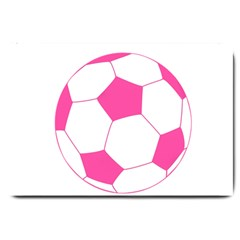 Soccer Ball Pink Large Door Mat