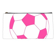 Soccer Ball Pink Pencil Case