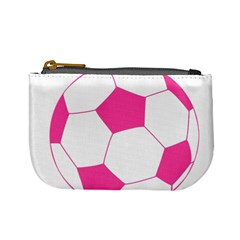 Soccer Ball Pink Coin Change Purse