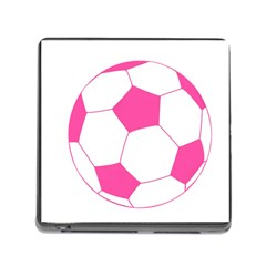 Soccer Ball Pink Memory Card Reader With Storage (square)