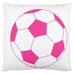 Soccer Ball Pink Large Cushion Case (single Sided)