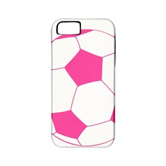 Soccer Ball Pink Apple Iphone 5 Classic Hardshell Case (pc+silicone)