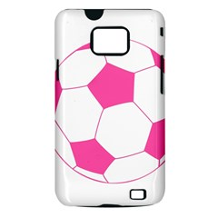 Soccer Ball Pink Samsung Galaxy S II i9100 Hardshell Case (PC+Silicone)