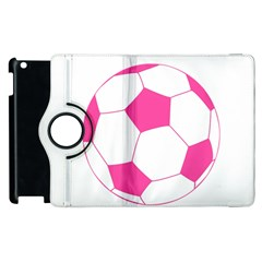 Soccer Ball Pink Apple Ipad 3/4 Flip 360 Case